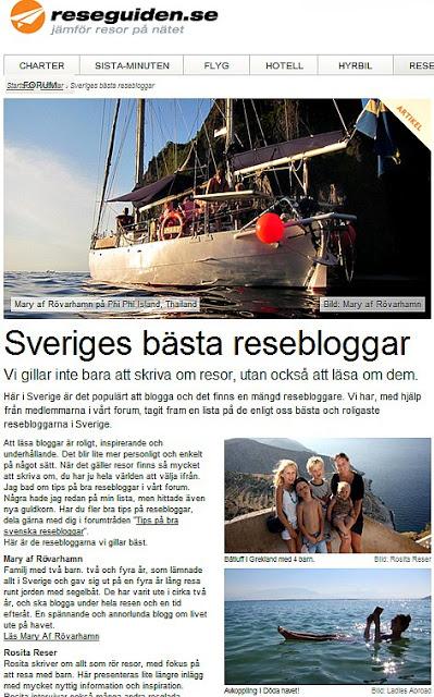 resebloggar
