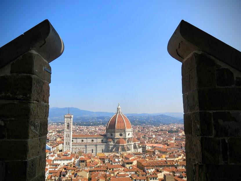 Il Duomo Santa Maria del Fiore Florens fotad från Palazzo Vecchio