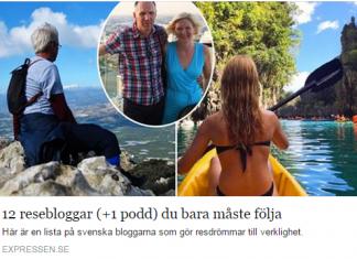 Expressen Sveriges bästa resebloggar