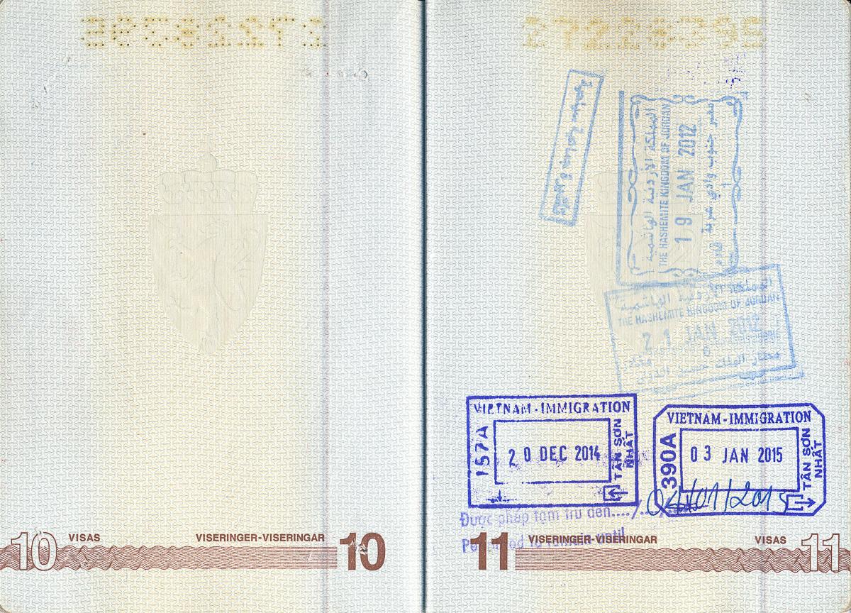 Januari 2012: Jordanien, Israel och Palestinien med Maxime och Brit December 2014 till januari 2015: Vietnam och Kambodja med Viveca