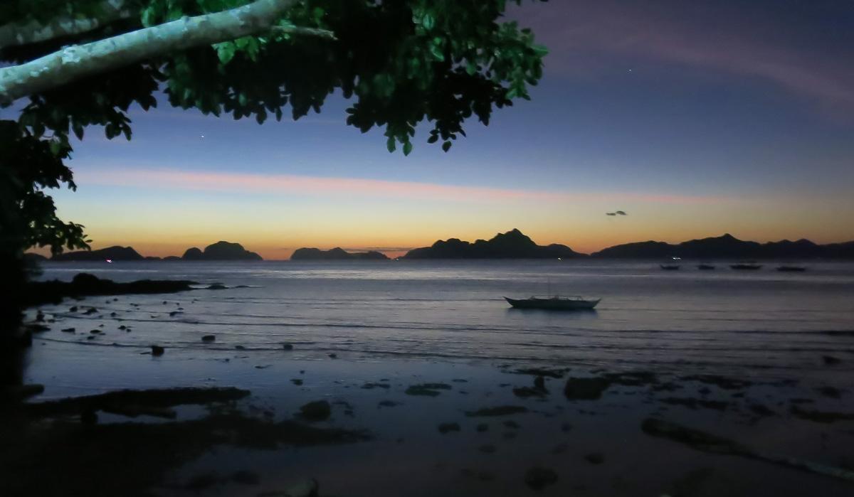 solnedgång El nido