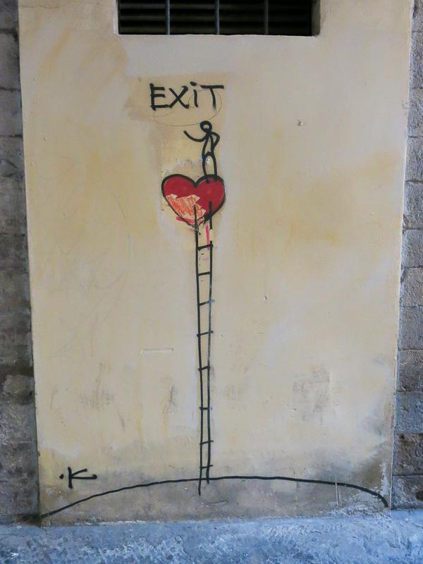Exit/Enter Streetart Florence Gatukonst Florens