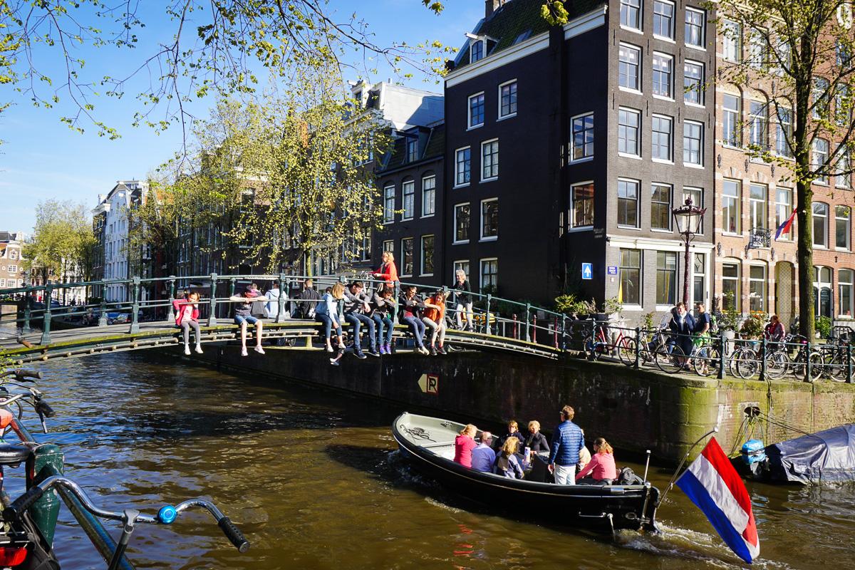 Amsterdam Kanal Nederländern
