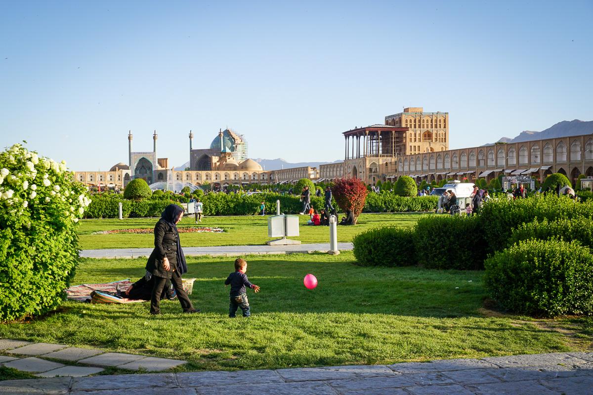 Isfahan i Iran - Naqsh-e Jahan - Kakh-e Ali Qapu
