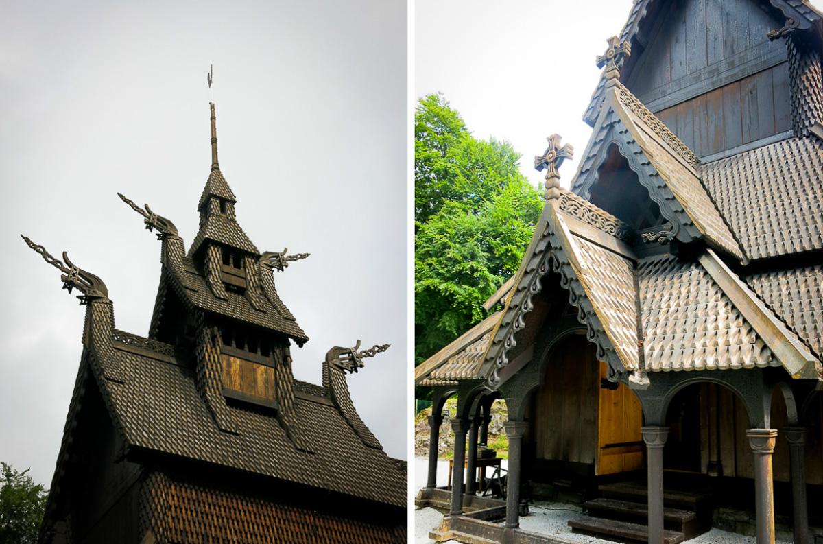 Fantoft stavkyrka - Bergen - Norge-4