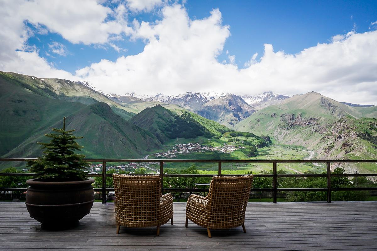Utsikt från Rooms Hotel Kazbegi