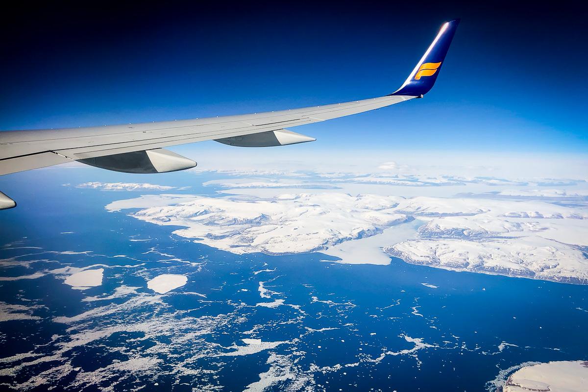 Fönsterplats över Grönland