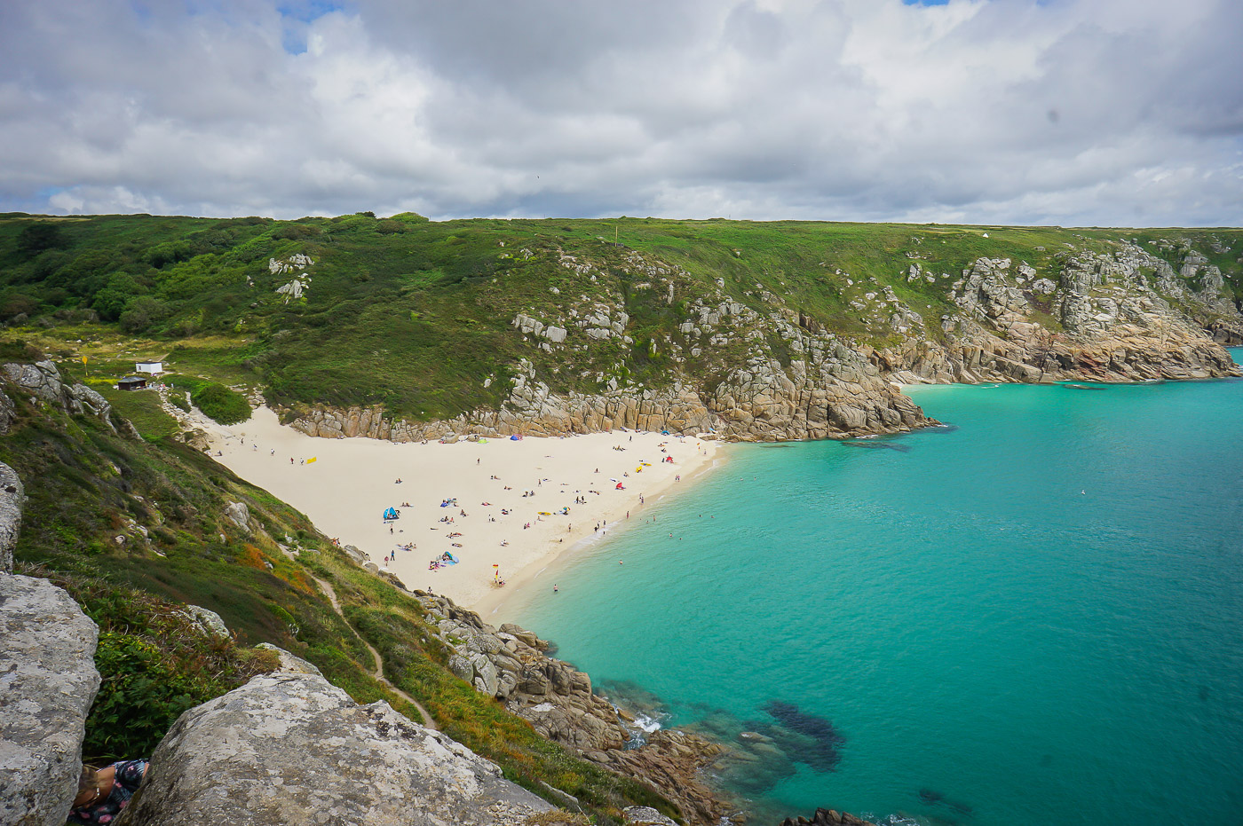 uk-england-cornwall-Porthcurno beach